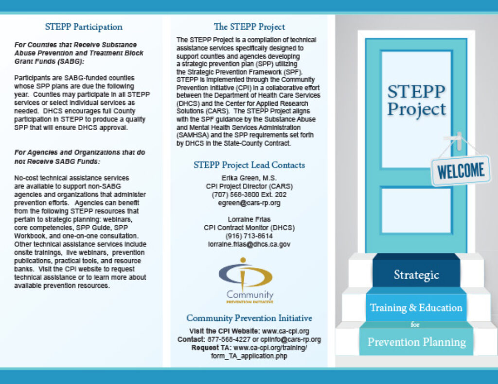 STEPP Project Brochure cover